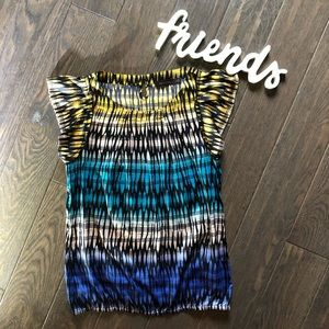 The Limited Multi Colored Cinch Waist Top